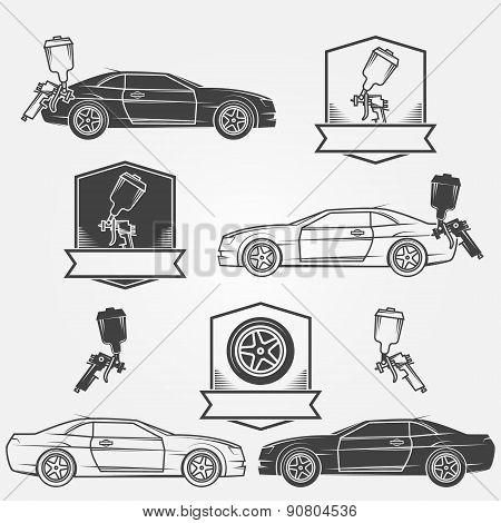 Car painting emblems or labels