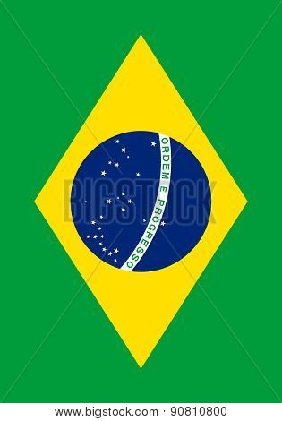 Flag Of Brazil Vertical