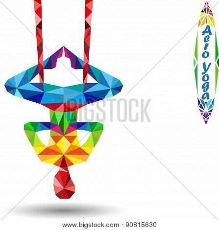 Aero Yoga. Image of triangles