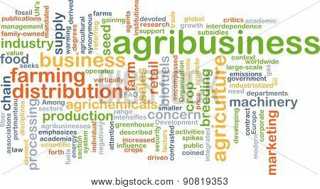 Background concept wordcloud illustration of agribusiness