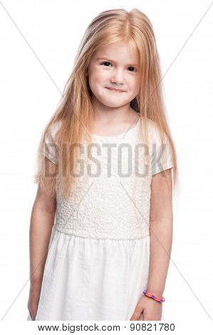 Beautiful Smiling Four Year Old Little Girl