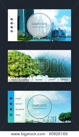 Web Design Elements - Header Designs with Nice Image Background