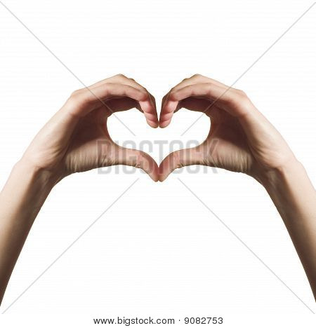 Heart made from hands