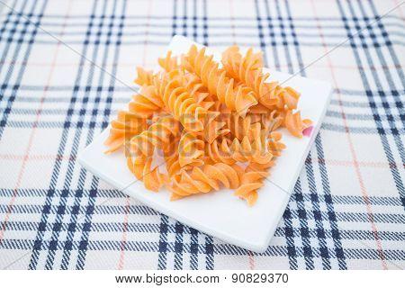 Fusilli Prepare For Pasta Cuisine