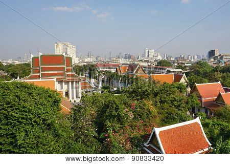 View Of Bangkok From Golden Mount