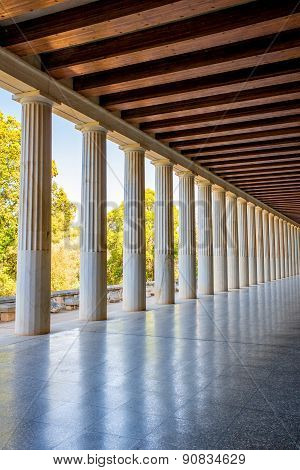 Stoa Attalos columns