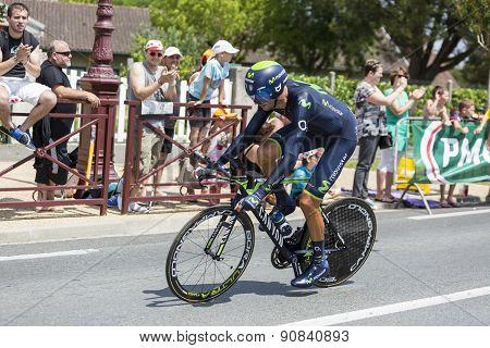 The Cyclist Ruben Plaza Molina - Tour De France 2014