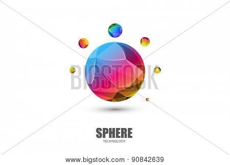 Sphere Logo Abstract Business Technology icon, easy editable