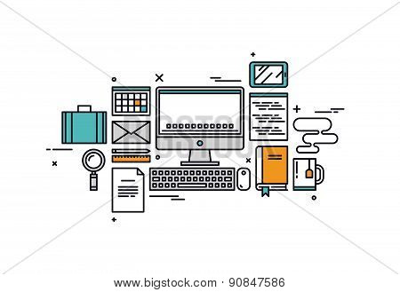 Coding And Programming Line Style Illustration