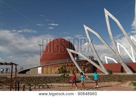 Outdoor design, Alfaro city, home to the National Constituent Assembly in Montecristi, Ecuador