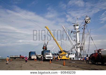 Fishing port in Manta, Ecuador