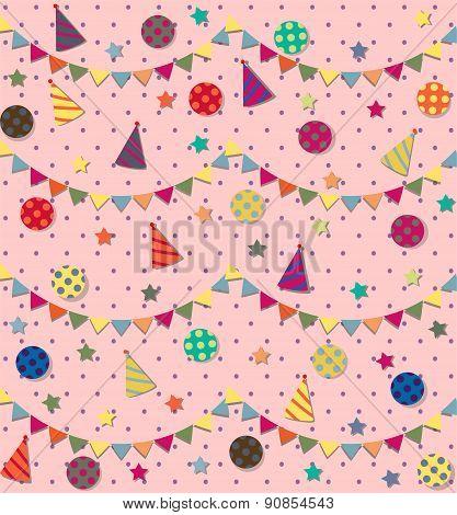 Happy Birthday. Vector seamless pattern.