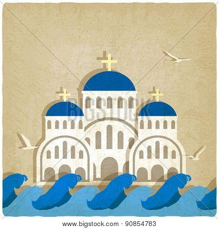 Greek Church near blue sea