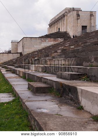 Defunct Nazi tribune of the former rally grounds