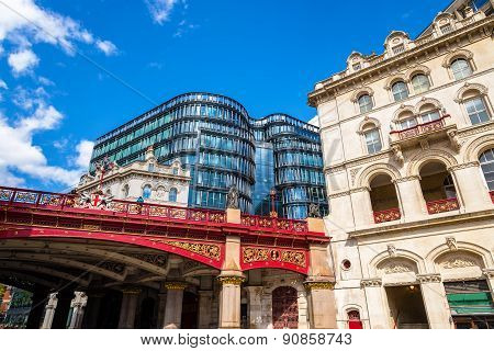Holborn Viaduct, A Road Bridge In The City Centre Of London