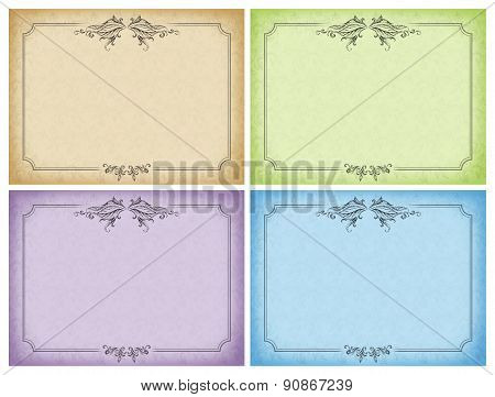 Set Of Designs Cards, Wedding Invitations, The Menu