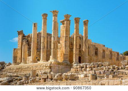 Ancient Jerash Jordan Temple Of Artemis