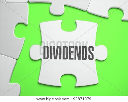 Dividends - Jigsaw Puzzle with Missing Pieces.