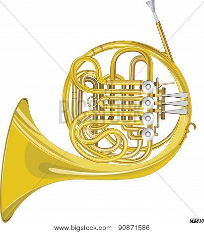 Horn Instrument - Illustration