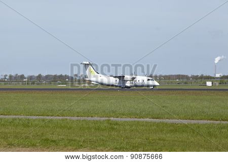Amsterdam Airport Schiphol - Dornier 328 Of Skywork Airlines Lands