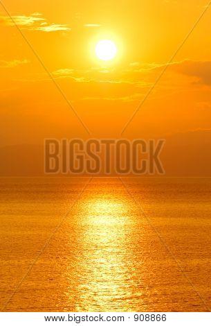 Sun In West