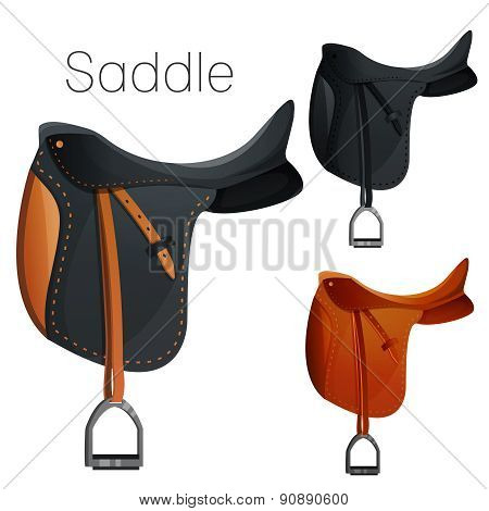 Set of equesrtian equipment for horse