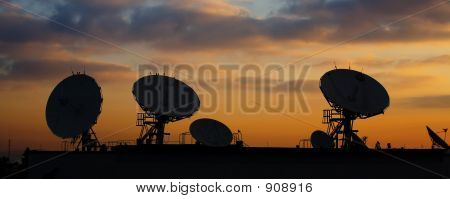 Satellite Dishes On Roof 2