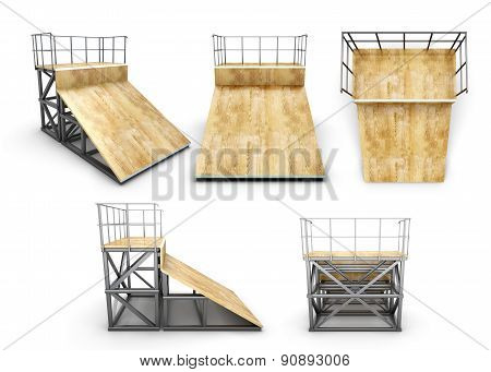 Element Skate Park Half-ramp With Different Angles