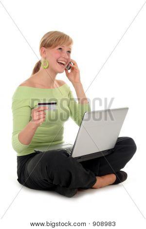 Frau Online-Shopping