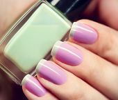 Nail Polish. Art Manicure. Nail Polish. Beauty hands. Trendy Stylish Colorful Nails and Nailpolish bottle closeup poster