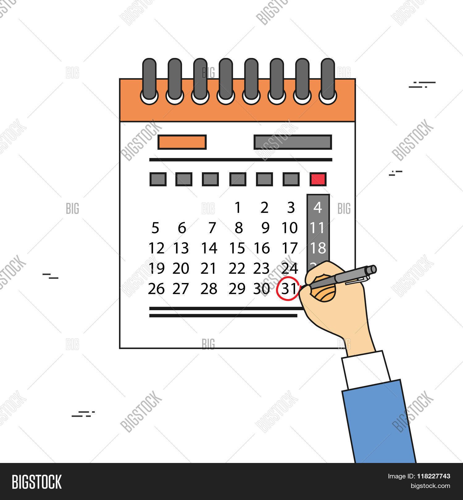 Calendar Drawing Cartoon : Calendar hand draw pen red circle vector photo bigstock