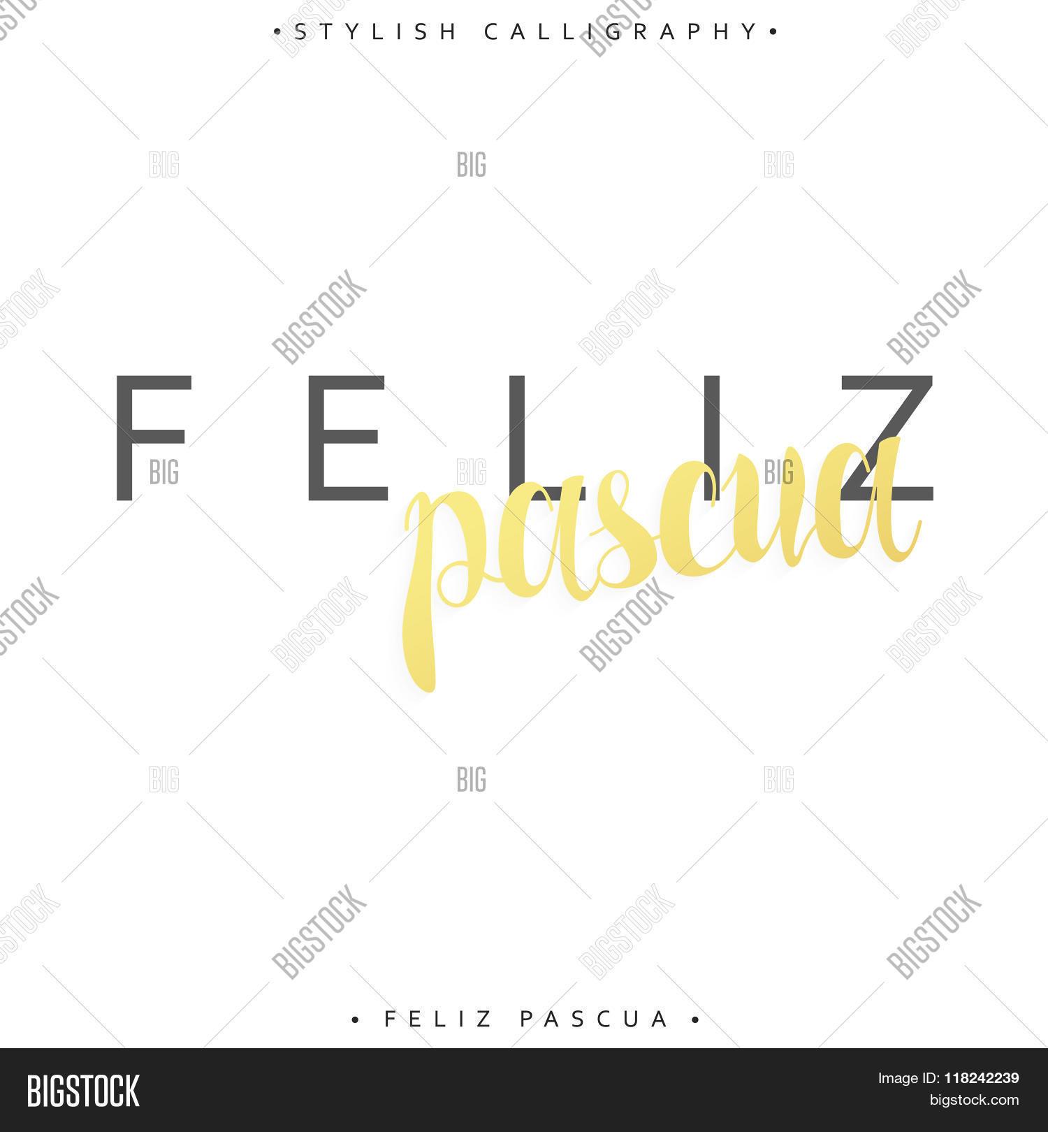 Feliz pascua vector photo free trial bigstock greeting inscription happy easter in spanish m4hsunfo
