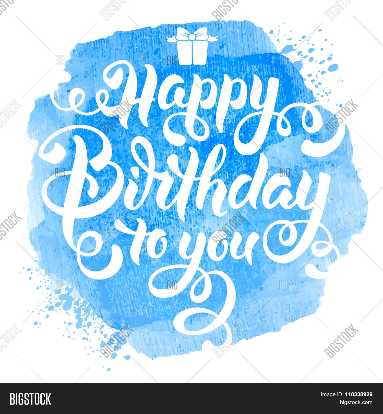 festive calligraphic hand drawn greeting lettering text overlay for birthday happy birthday to you