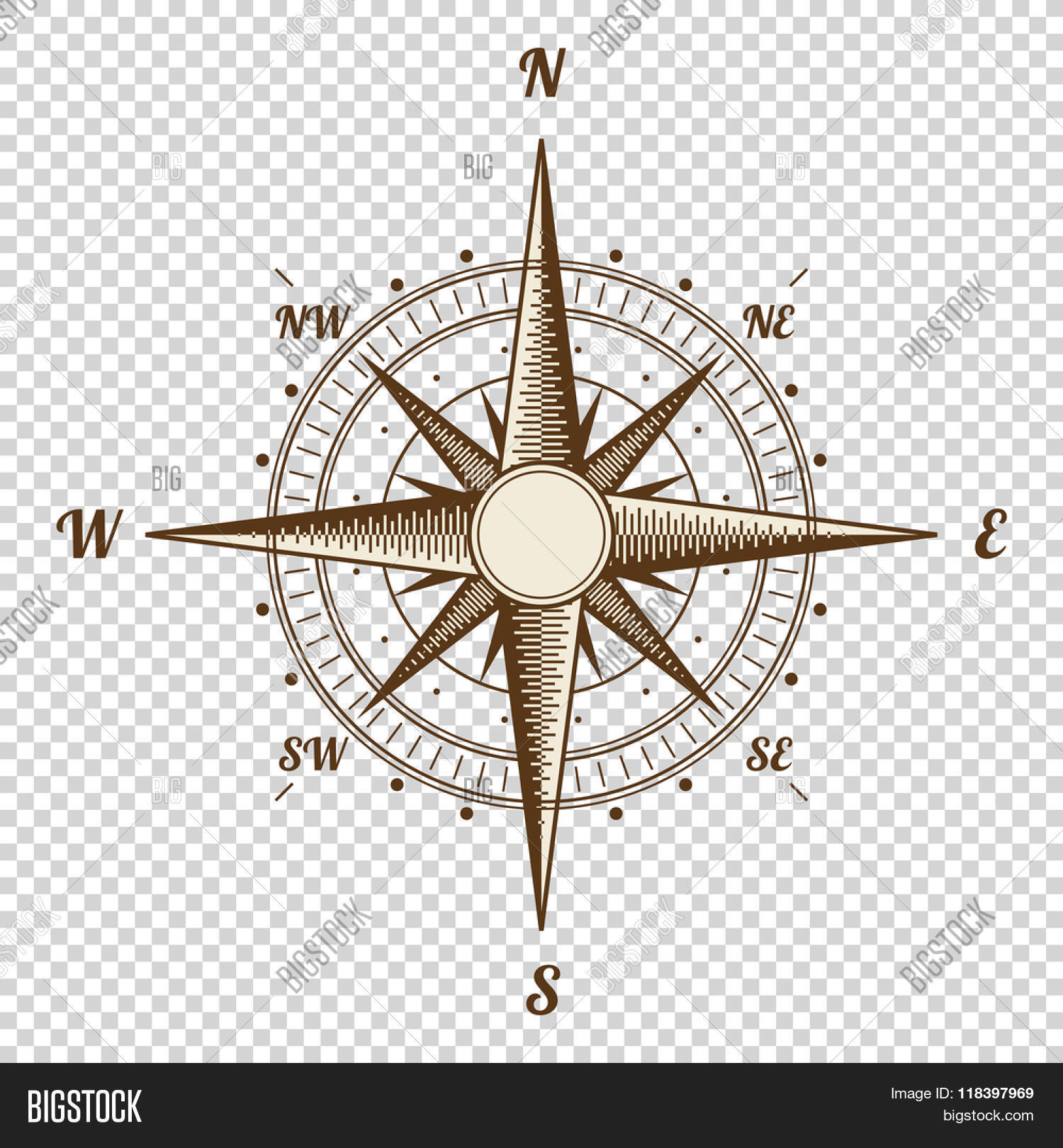 vector compass vector photo free trial bigstock