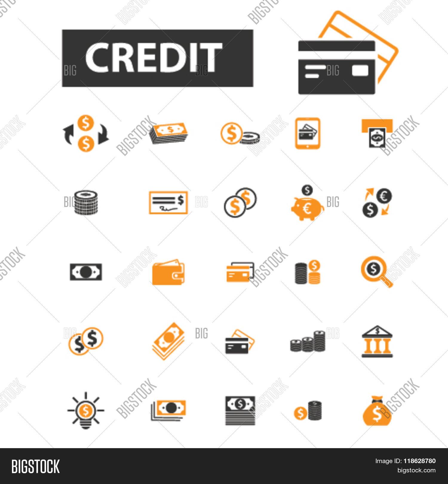 Credit Icons, Credit Logo, Vector & Photo | Bigstock