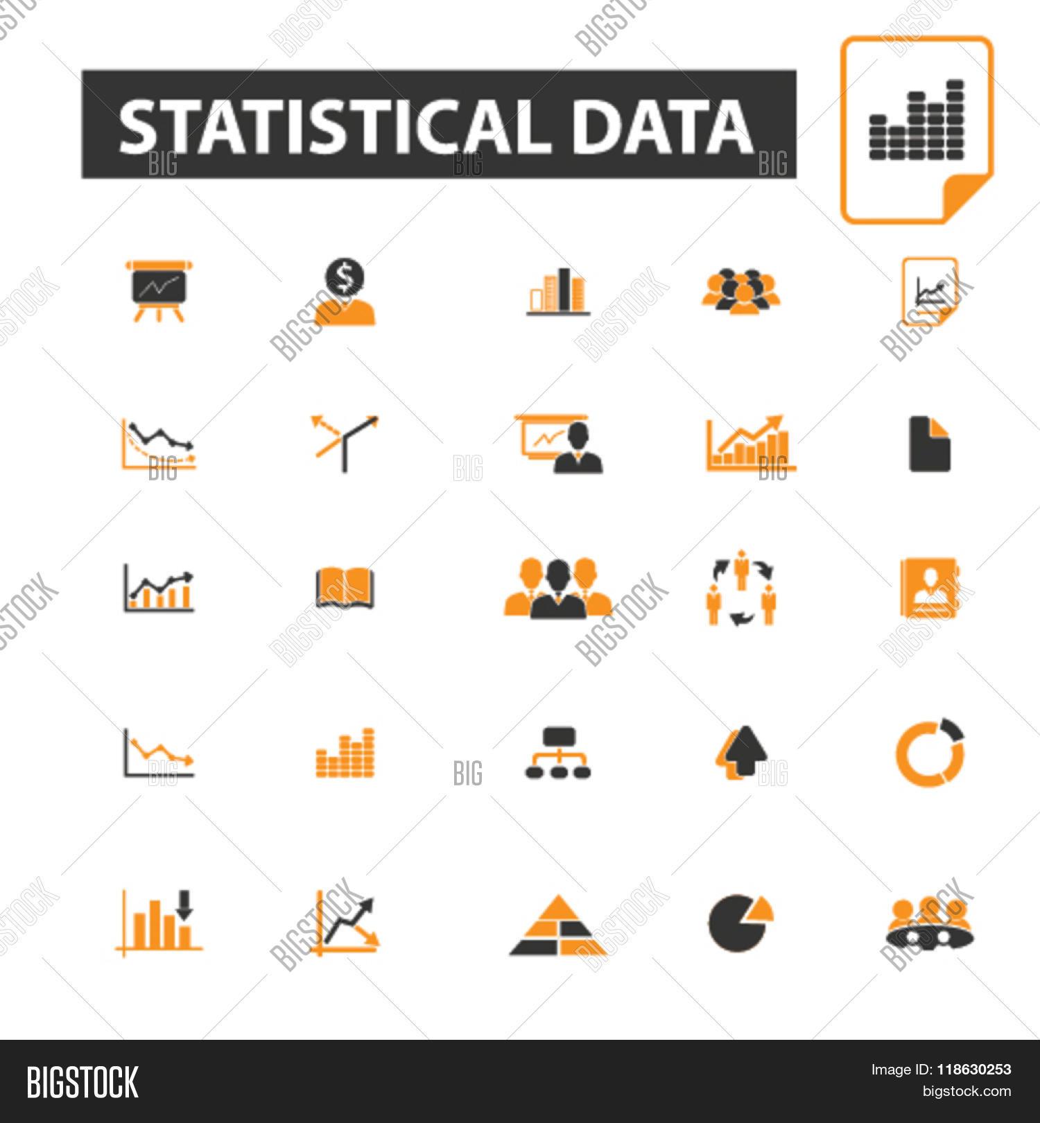 Statistical Data Icons, Vector & Photo   Bigstock