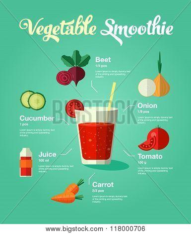 natural food vegetable smoothie