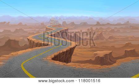 Road On Rock Mountain