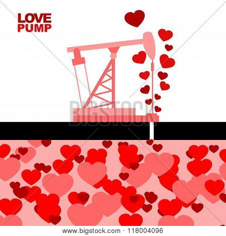 Love Pump. Extraction Of Love. Oil Rig Rocking Love From Under Ground. Large Stocks Of Deep Love. Re
