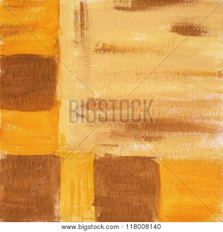 Abstract Acrylic Golden Background Texture With Squares
