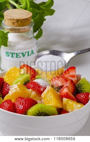Stevia Powder. Natural Sweetener.