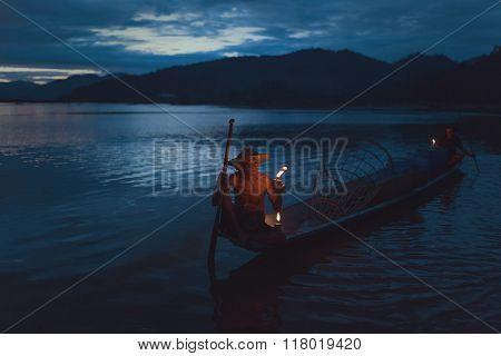 Fisherman On Evening