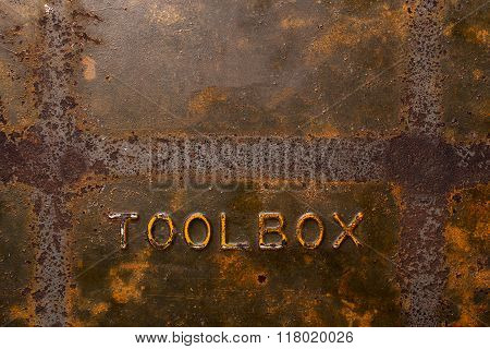 Old Rusty Toolbox Background