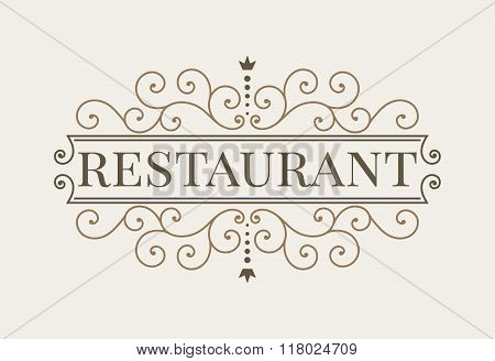 Luxury logo and monogram line art template.