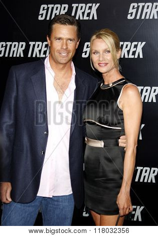 Steve Pate and Nicollette Sheridan at the Los Angeles Premiere of
