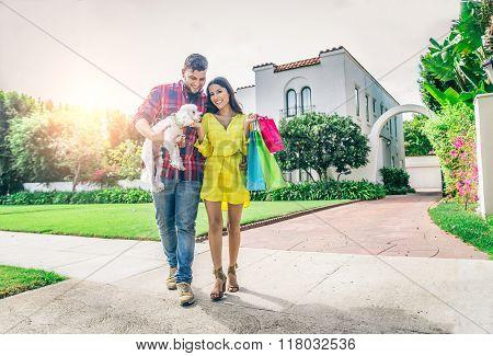 Portrait Of Rich Couple