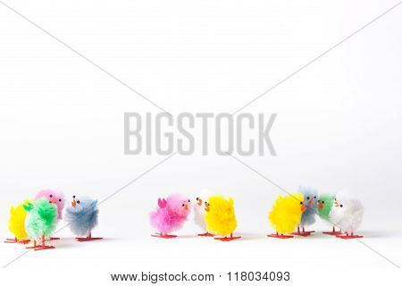 Toy Fluffy Easter Chicks