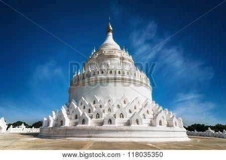 Hsinbyume Pagoda At Mingun. Mandalay, Myanmar (burma)