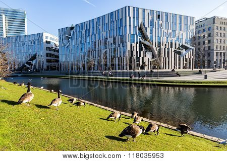 View Of The Ko - Bogen. The Ko-bogen Is A Large-scale Office And Retail Complex Designed By The New
