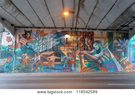 Mural in an Underpass